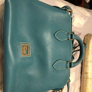 Turquoise dooney bourke purse
